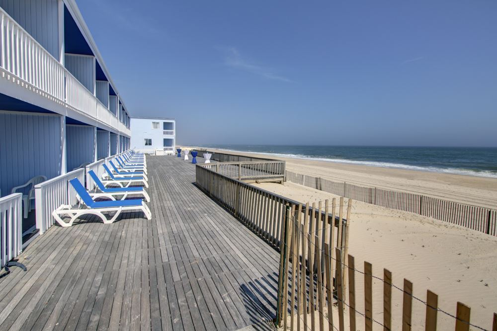 Beach deck at our Oceanfront Montauk Hotel